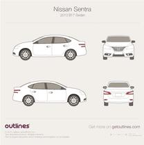 2013 Nissan Sentra B17 Sedan blueprint