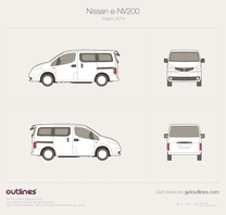 2009 Nissan NV200 Electric Taxi Cab Minivan blueprint