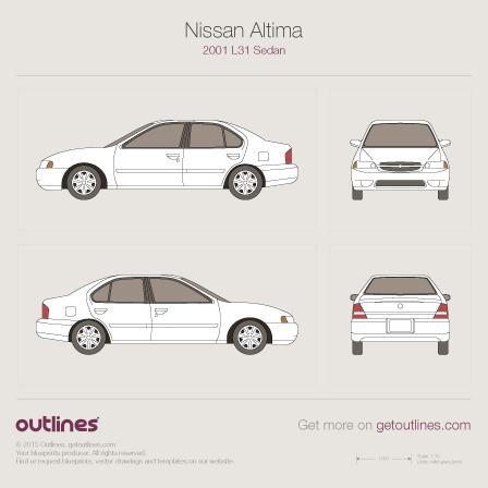2001 Nissan Altima L31 Sedan blueprint