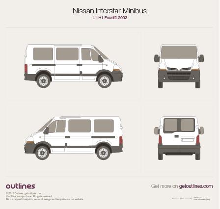 2003 Nissan Interstar Minibus Wagon blueprints and drawings