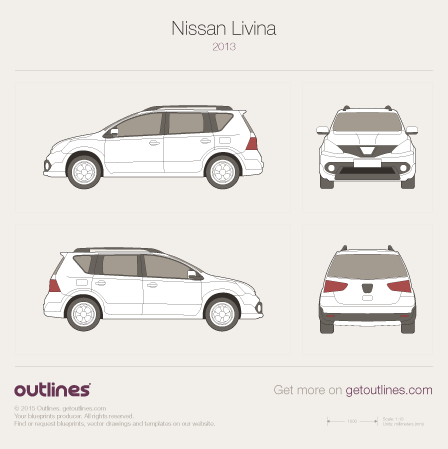 2013 Nissan Livina L11 Minivan blueprint