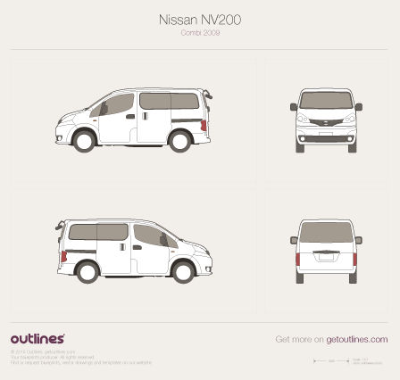 2009 Nissan Evalia Minivan blueprints and drawings