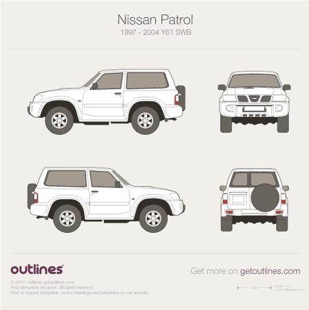 1997 Nissan Patrol Y61 SWB SUV blueprint