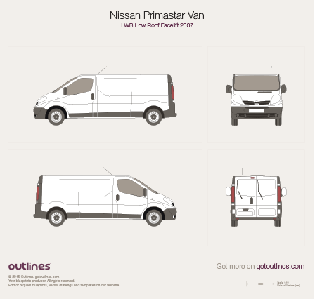 2007 Nissan Primastar Van Van blueprints and drawings