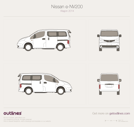2009 Nissan e-NV200 Wagon blueprints and drawings
