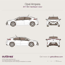 2011 Opel Ampera 5-doors Hatchback blueprint