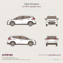 2017 Opel Ampera II 5-doors Hatchback blueprint