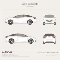 2013 Opel Cabrio Cabriolet blueprint