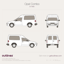 1993 Opel Combo Tour B Van blueprint