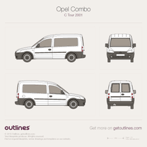 2001 Opel Combo Tour C Wagon blueprint