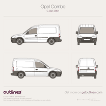 2001 Opel Combo Panel Van C Van blueprint