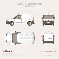 2011 Opel Combo Panel Van D L1 H1 Van blueprint