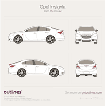 2008 Opel Insignia Sedan blueprint