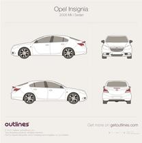 2008 Opel Insignia Sedan blueprint