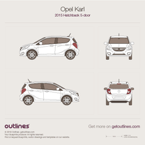 2015 Opel Karl 5-doors Hatchback blueprint
