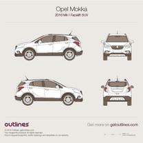 2016 Opel Mokka X SUV blueprint