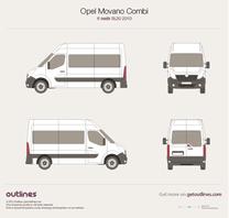 2010 Vauxhall Movano Combi 6 seats SL30 Minivan blueprint