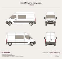 2010 Vauxhall Movano Crew Van FWD Van blueprint