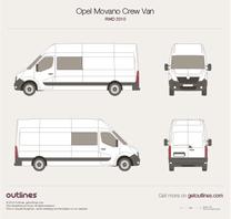 2010 Vauxhall Movano Crew Van RWD Van blueprint