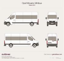 2010 Opel Movano Minibus Trabus Bus blueprint