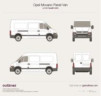 2003 Opel Movano Panel Van L2 H2 Facelift Van blueprint