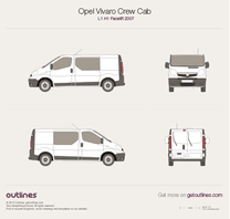 Opel Vivaro blueprint