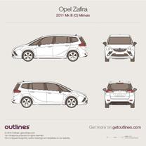 2011 Opel Zafira C Tourer Minivan blueprint