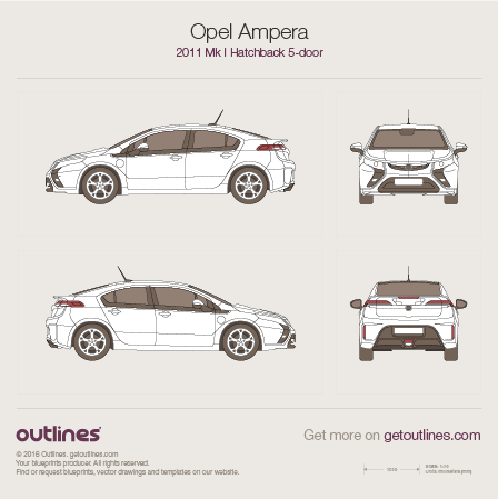 2011 Opel Ampera Hatchback blueprints and drawings