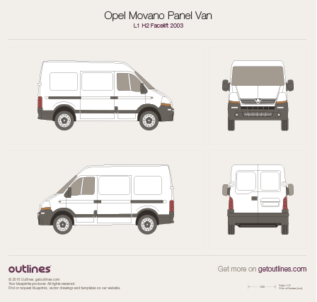 2003 Vauxhall Movano Panel Van L1 H2 Facelift Van blueprint