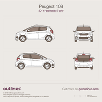 Peugeot 108 blueprint
