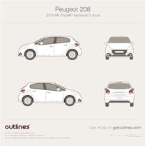 Peugeot 208 blueprint