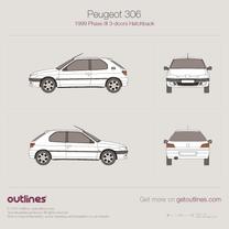 Peugeot 306 blueprint