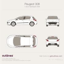 2007 Peugeot 308 5-door Hatchback blueprint