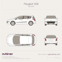 2007 Peugeot 308 SW Wagon blueprint