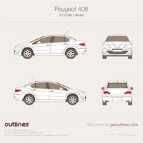 Peugeot 408 blueprint