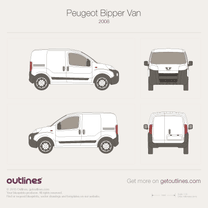 2006 Peugeot Bipper Microvan blueprint