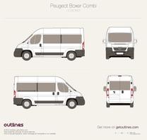 2007 Peugeot Boxer Window Van L2 H2 Van blueprint