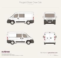 2007 Peugeot Boxer Crew Cab L1 H1 Van blueprint