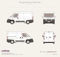 2007 Peugeot Boxer Panel Van L1 H1 Van blueprint
