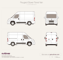 2014 Peugeot Boxer Panel Van L1 H2 Facelift Van blueprint
