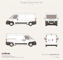2007 Peugeot Boxer Panel Van L2 H1 Van blueprint
