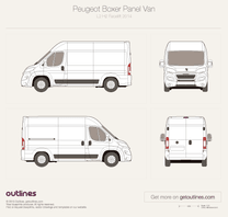 2014 Peugeot Boxer Panel Van L2 H2 Facelift Van blueprint