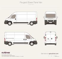 2007 Peugeot Boxer Panel Van L3 H2 Van blueprint