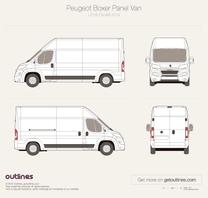 2014 Peugeot Boxer Panel Van L3 H3 Facelift Van blueprint