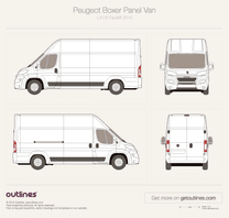 2014 Peugeot Boxer Panel Van L4 H3 Facelift Van blueprint