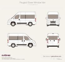 2014 Peugeot Boxer Window Van L1 H2 Facelift Wagon blueprint