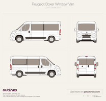 2014 Peugeot Boxer Window Van L2 H1 Facelift Van blueprint