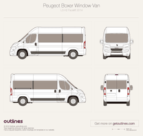 2014 Peugeot Boxer Window Van L3 H2 Facelift Van blueprint