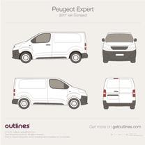 2017 Peugeot Expert Mk III Compact Van blueprint
