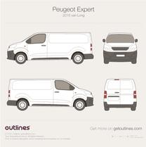 2017 Peugeot Expert Mk III Long Van blueprint